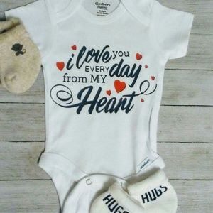 I love you baby onesie kids clothes